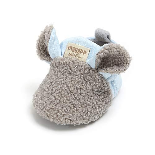 2abb12974e1 Slippers – Baby Boys Girls Slipper Cozy Fleece Booties Non-Slip Bottom  Winter Socks Unisex Pram Soft Sole Infant First Walker Crib House Shoes  (6-12 Months ...