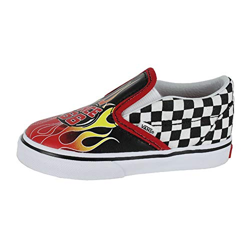 a25526f1 Sneakers – Vans Toddler T Classic Slip ON Race Flame Black Racing ...
