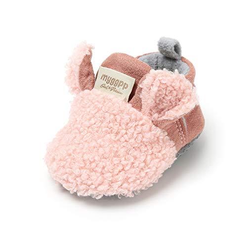 SCOWAY Baby Boys Girls Slippers Cute Cartoon Animal Anti-Slip Warm Winter Crib Shoes Prewalker First Walker Shoes